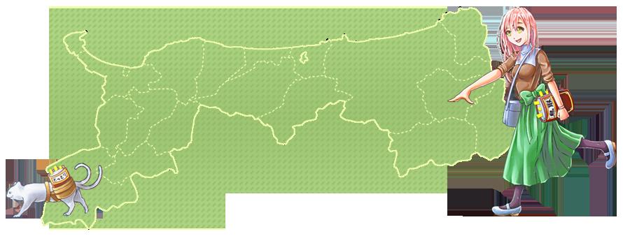 鳥取県地図