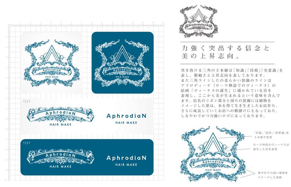 AphrodiaN(アフロディアン)ロゴコンセプト