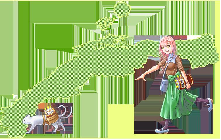 山陰地方 - 鳥取県・島根県の地図
