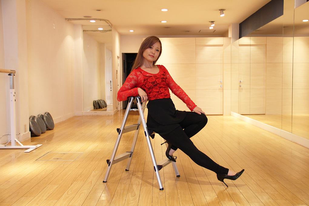 西村静香さんインタビューは脚立で!